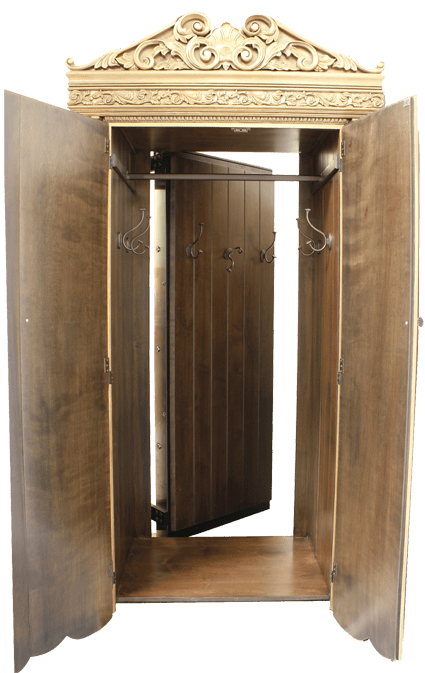 Security bolts are located on all four sides of the door for complete seal.  Door can be locked from inside and outside. Integrated with ballistic  material. - Vault Doors - Secret Vault Doors For Homes - Highly Secure & Custom
