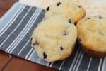 Blueberry White Chocolate Muffins - these are perfect for waking up the kids or adding to lunches!