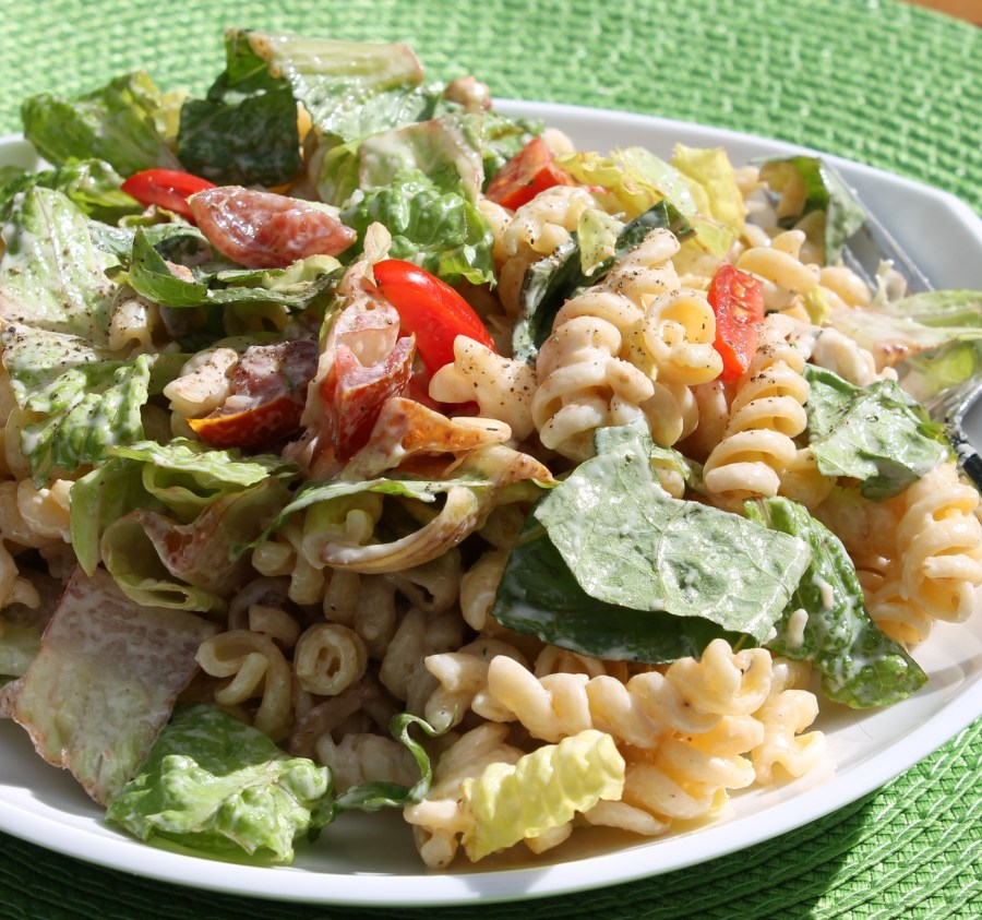 Bacon Caesar Pasta Salad - the perfect hearty, crowd pleasing salad for any barbecue or a light dinner all on its own.