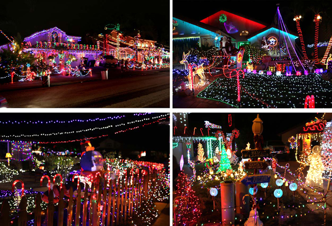 Candy Cane Court Christmas Lights poway