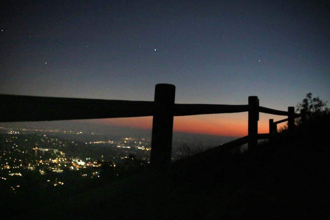 Hike Cowles Mountain at night and not only have the entire mountain to yourself but be greeted by other-worldly views at the top!