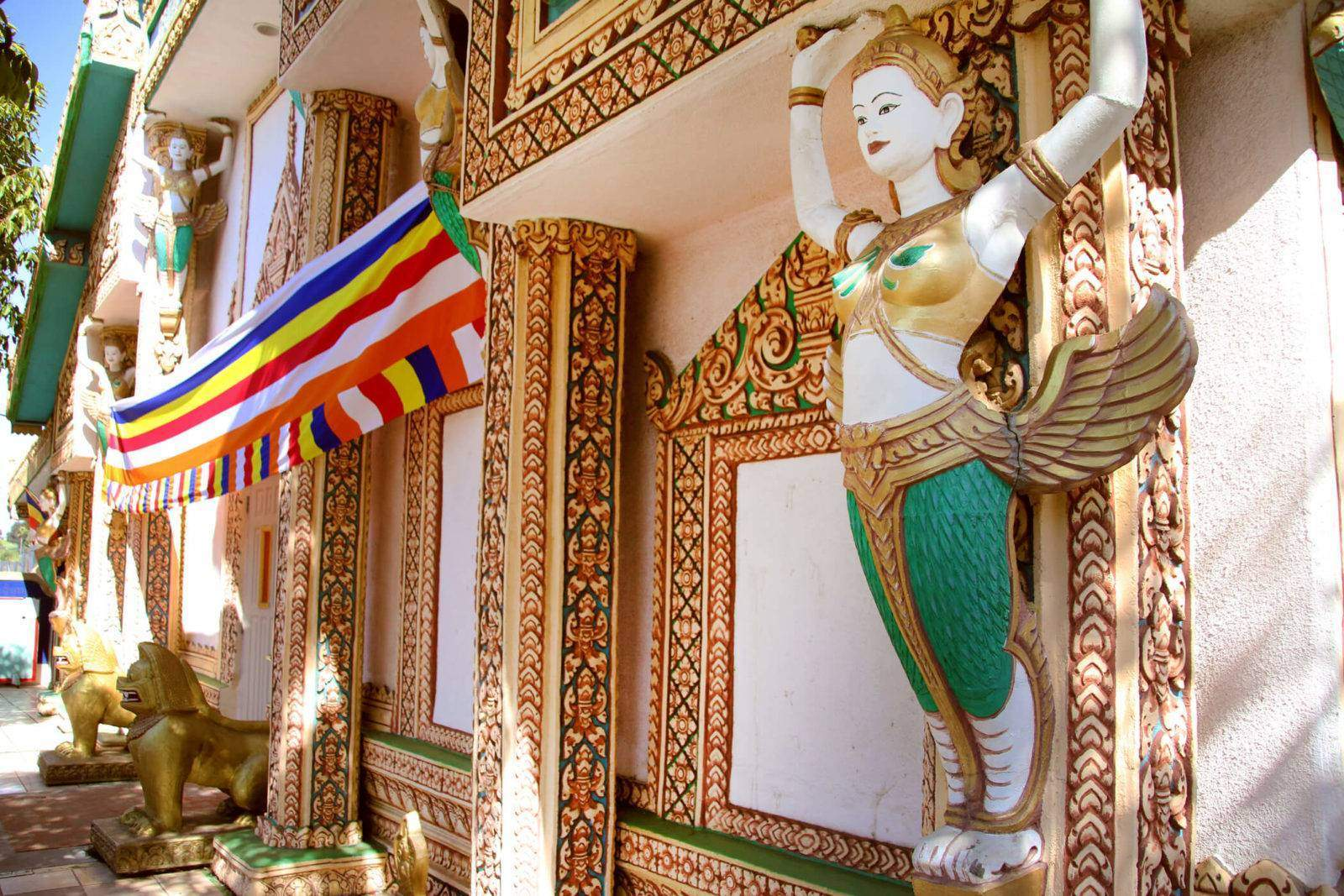 Visit Wat Sovannkiri Buddhist Temple, one of San Diego's most beautiful Cambodian Buddhist Temples, located in City Heights