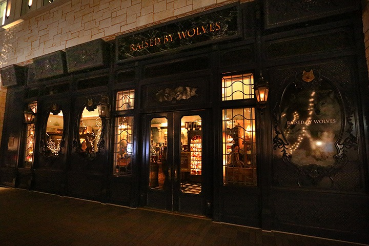 Raised by Wolves is a French 1920's-themed speakeasy located behind a fireplace inside the UTC mall