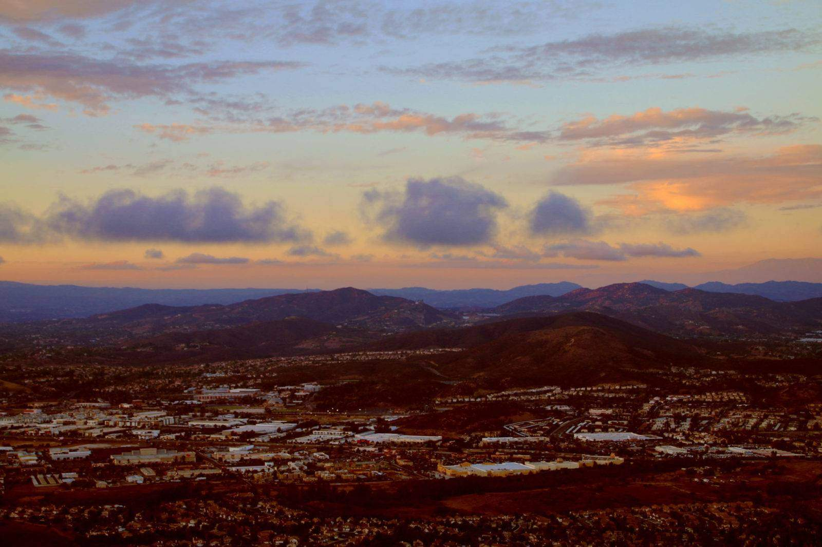 Check out one of San Diego's best panoramic views located in San Marcos, Double Peak Park!