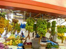 Bananen auf einem Markt in Malé