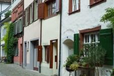 Häuserreihen in Stein am Rhein