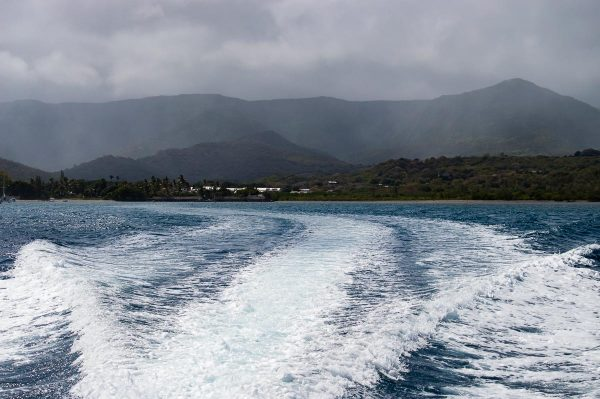 Mauritius vom Boot aus gesehen