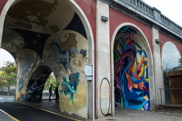 Street Art in einer Brücke in Santa Cruz de Tenerife