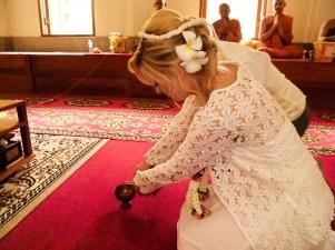 Buddhistische Hochzeitszeremonie Thailand
