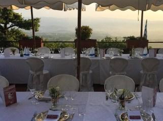 Hochzeitstisch im Agriturismo La Capitata