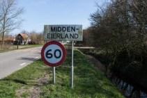 Ortsschild Midden Eierland Texel