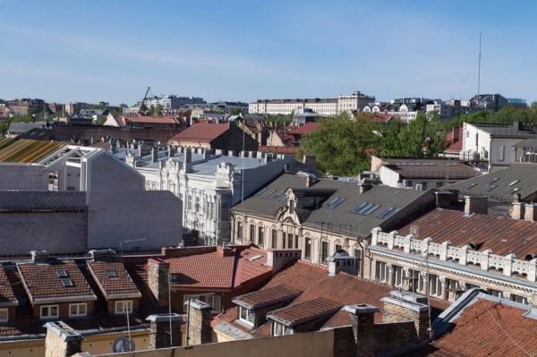Blick vom Hotel auf Vilnius
