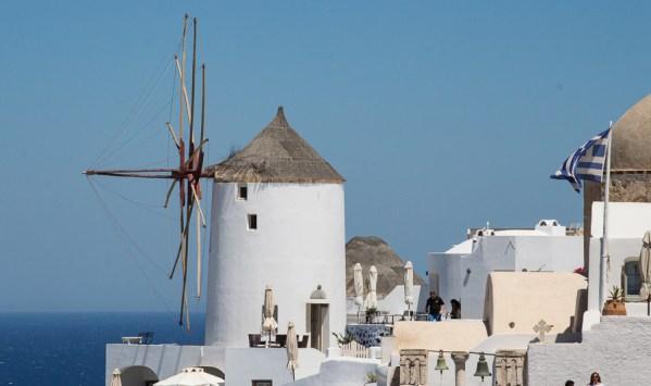 Windmühle in Oia Santorin