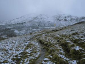 Snowy Alpine landscape at Pinzgauer Spaziergang