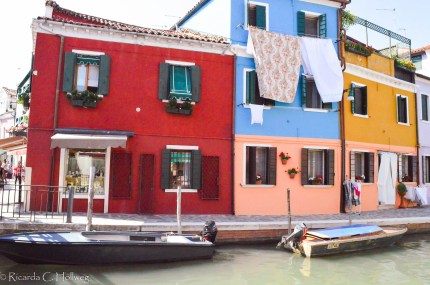 Canal with laundry in Burano