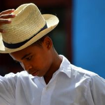 Boy at a festival in Sancti Spiritus