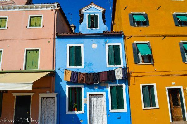 Houses of the main suare of Burano