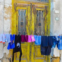Door with drying clothes Cyprus