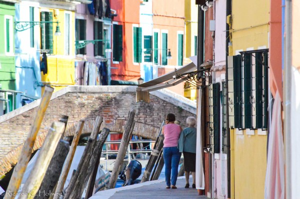 Inhabitants of Burano strolling