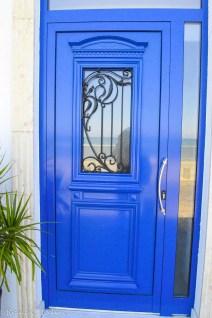 Blue modern door Cyprus