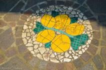 Street mosaic in Limone sul Garda