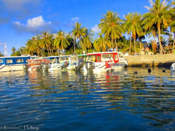Boats at Maafushi