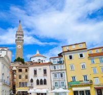 Pastel-colored Houses of Piran