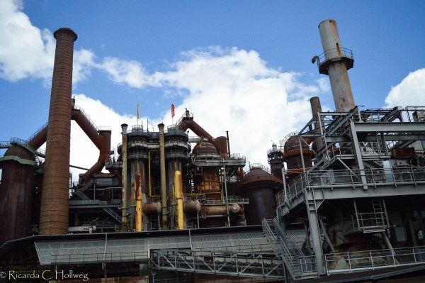 Shut-down ironworks in the Saarland