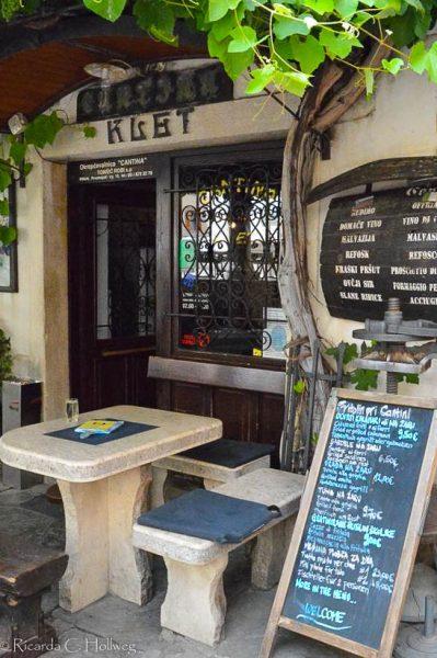 Wine bar in Piran