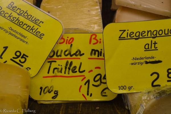 Truffle cheese at the Viktualienmarkt