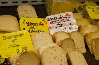 Cheese selection at the Viktualienmarkt
