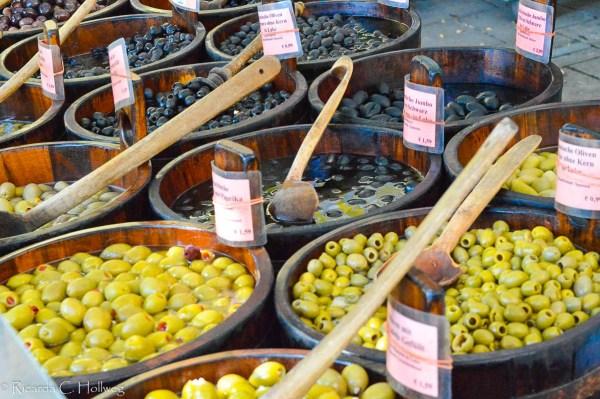 Big variety of Olives
