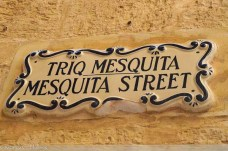 Street sign in Mdina