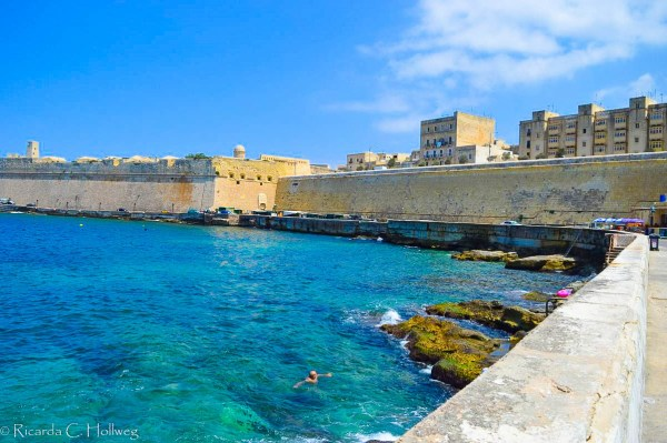 Swimming in Valletta