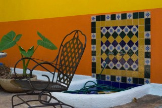 charming details in a patio in Mérida Mexico