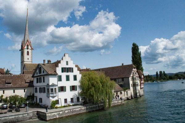View from the river in Stein am Rhein