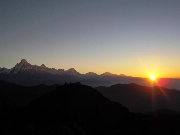 Sunrise over Annapurna
