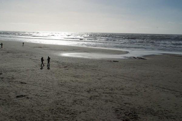 Evening mood at Texel beach