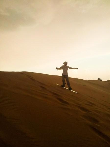 Sandboarding in Oman