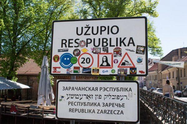 Sign Užupis Republic
