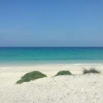 White beach in Oman