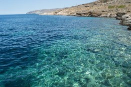 Crystal clear water in Tinos