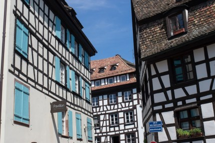 Half-timbered architecture in Strasbourg