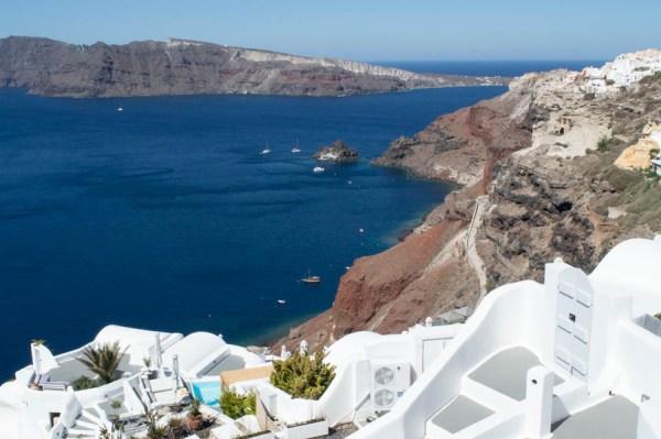 Oia, Santorini, and the blue sea