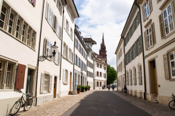 Alley in the old town of Basel