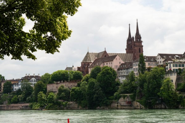 View on Grossbasel from the Rhine river