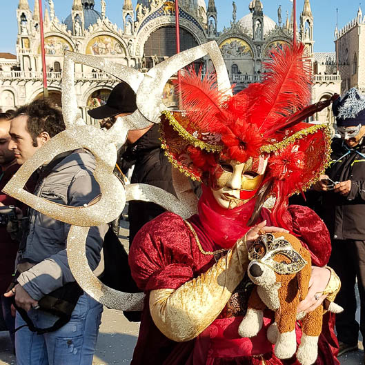 The Lovely Dog at Venice Carnival