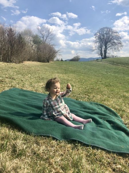 Picknick blanket in nature