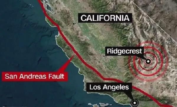 Най-мощните земетресения, през последните 20 г., в Калифорния