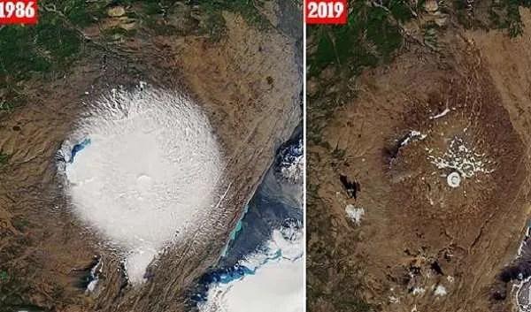 В Исландия огромен ледник се е стопил напълно за 30 години